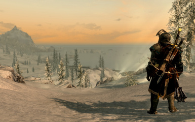 The northern end of Skyrim