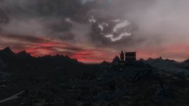 Whiterun at sunset