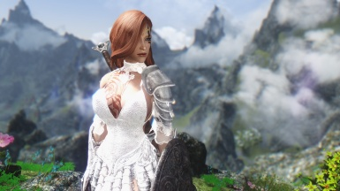Lydia - Knight in a white dress concept