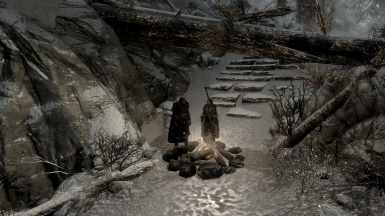 Finding shelter on the way to High Hrothgar