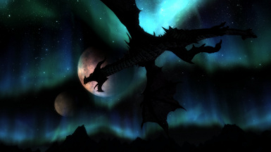 Dragon in the moon