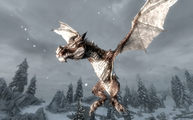 frost dragon in winter land