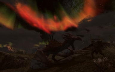 dragon fight under aurora 1