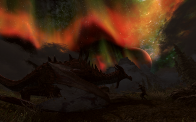 dragon fight under aurora 2