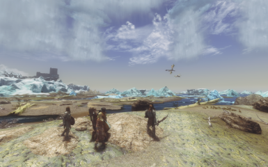 On the beach near winterhold