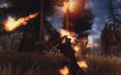Foray in the swamp of Morthal 01-chaurus attack by behind