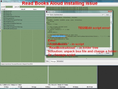 Read Books Aloud installing issue