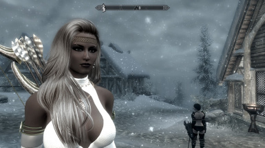 Angeline close up in Skaal Village