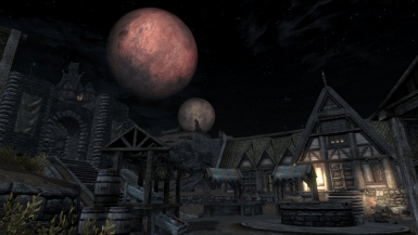 Red Moon on Whiterun