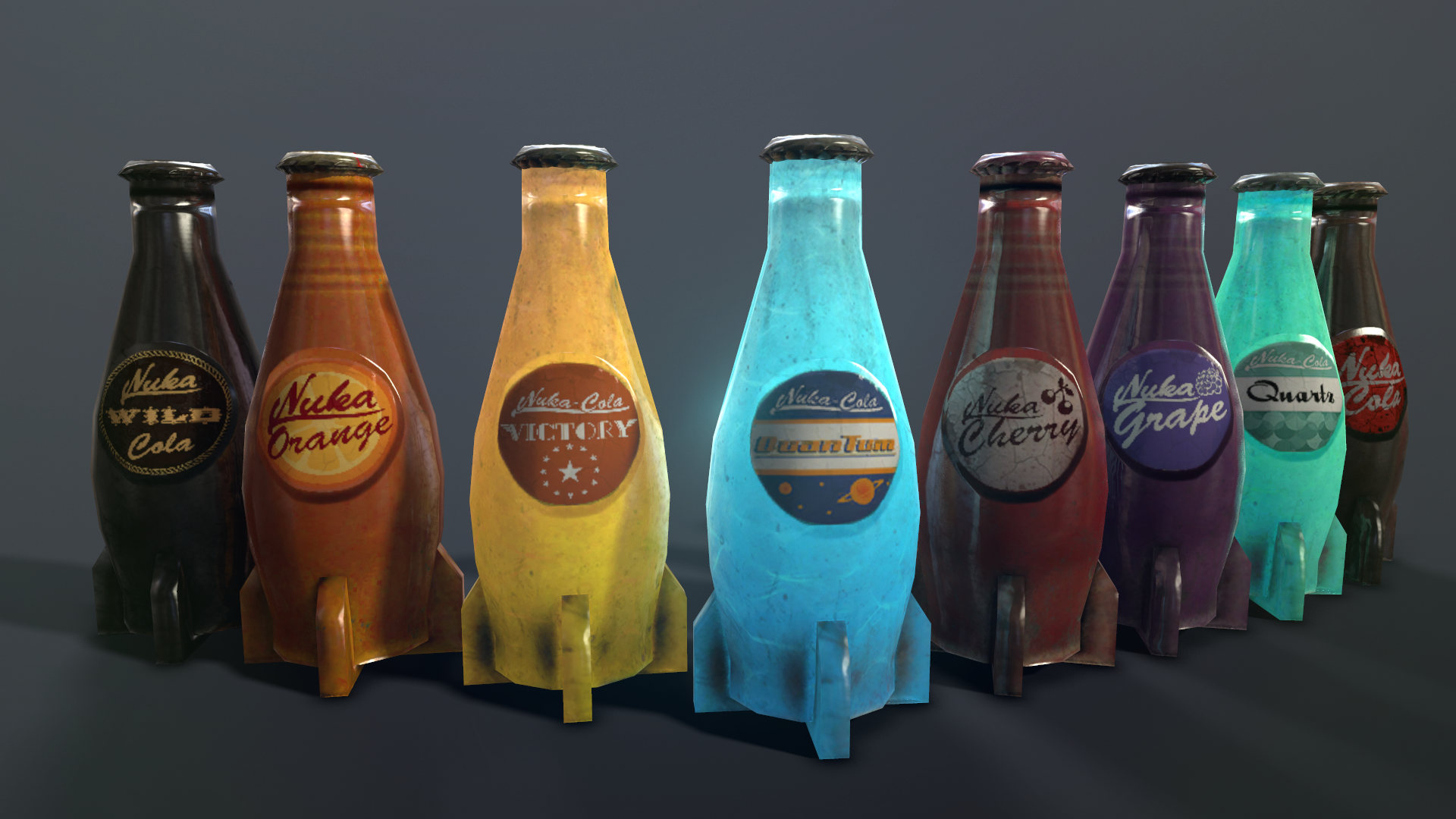 Nuka Cola Bottle Retexture And F4nv Vending Machine At Fallout 4