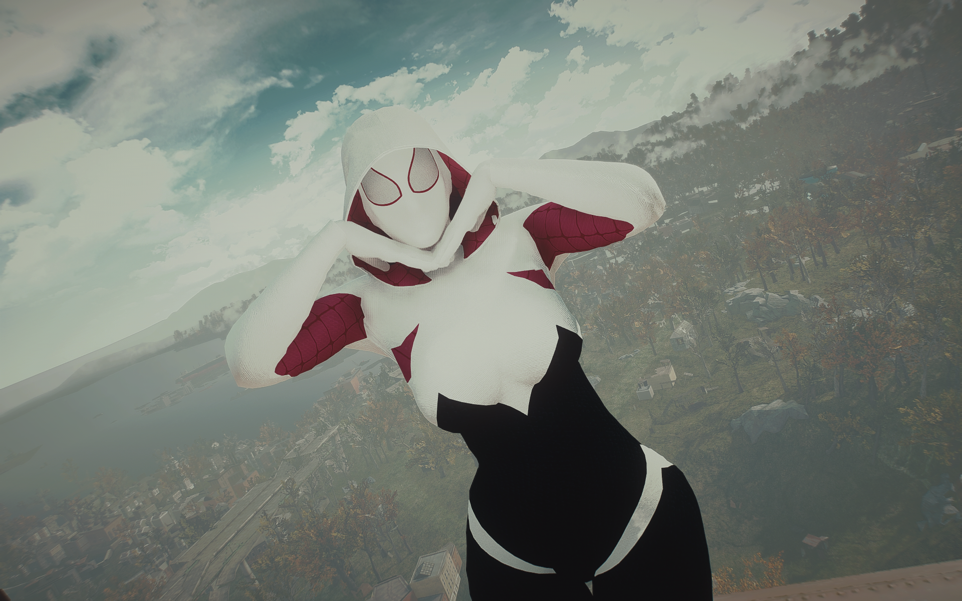 Spider Gwen Cosplay At Fallout 4 Nexus Mods And Community