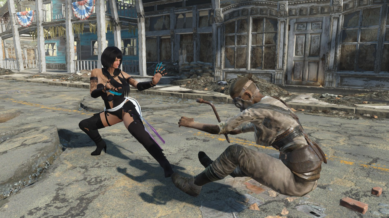 suei lin and martial arts at fallout 4 nexus mods and. Black Bedroom Furniture Sets. Home Design Ideas