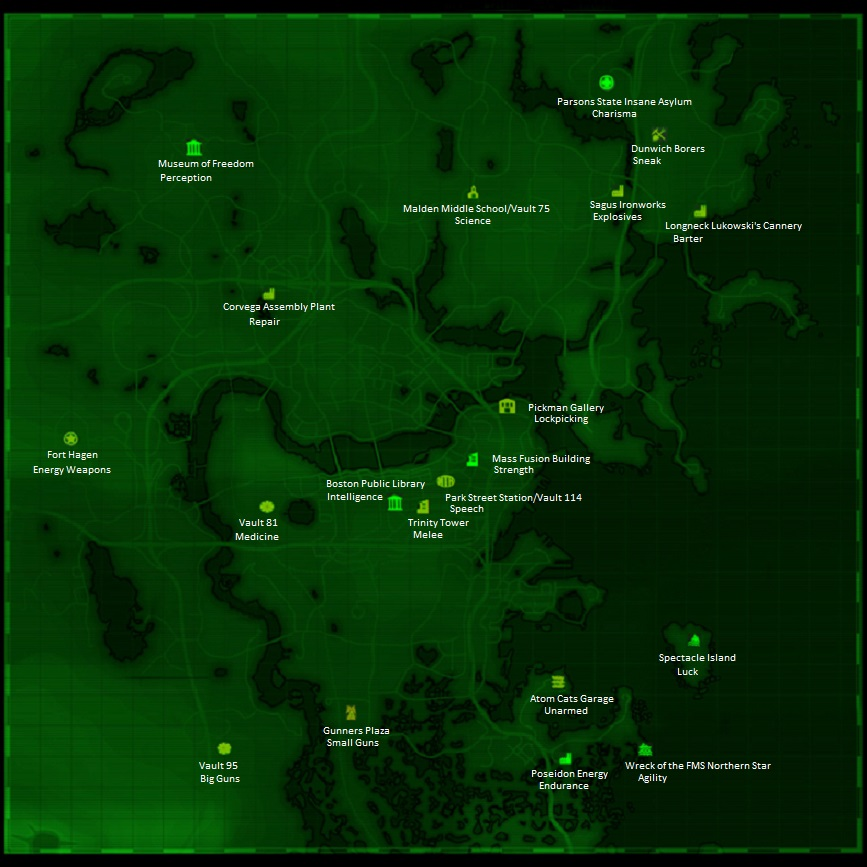 fallout 4 bobblehead locations map at fallout 4 nexus mods and