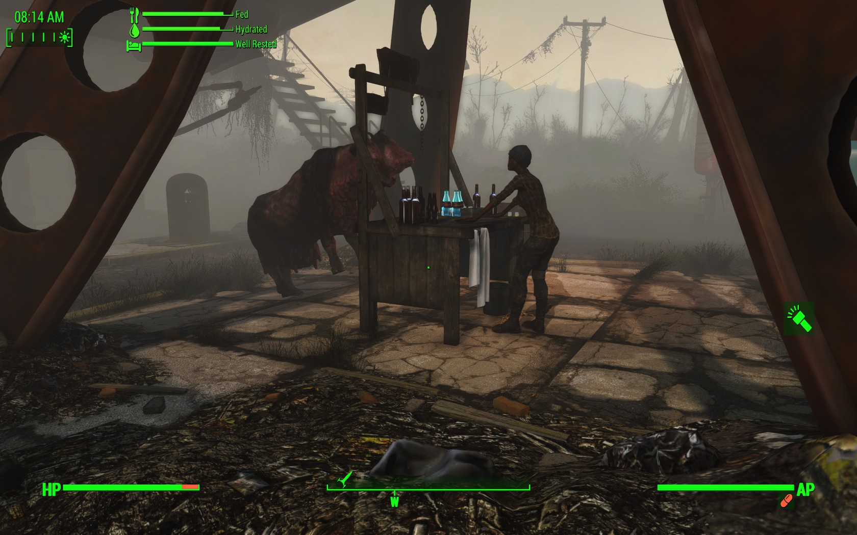 fallout 4 how to move brahmin