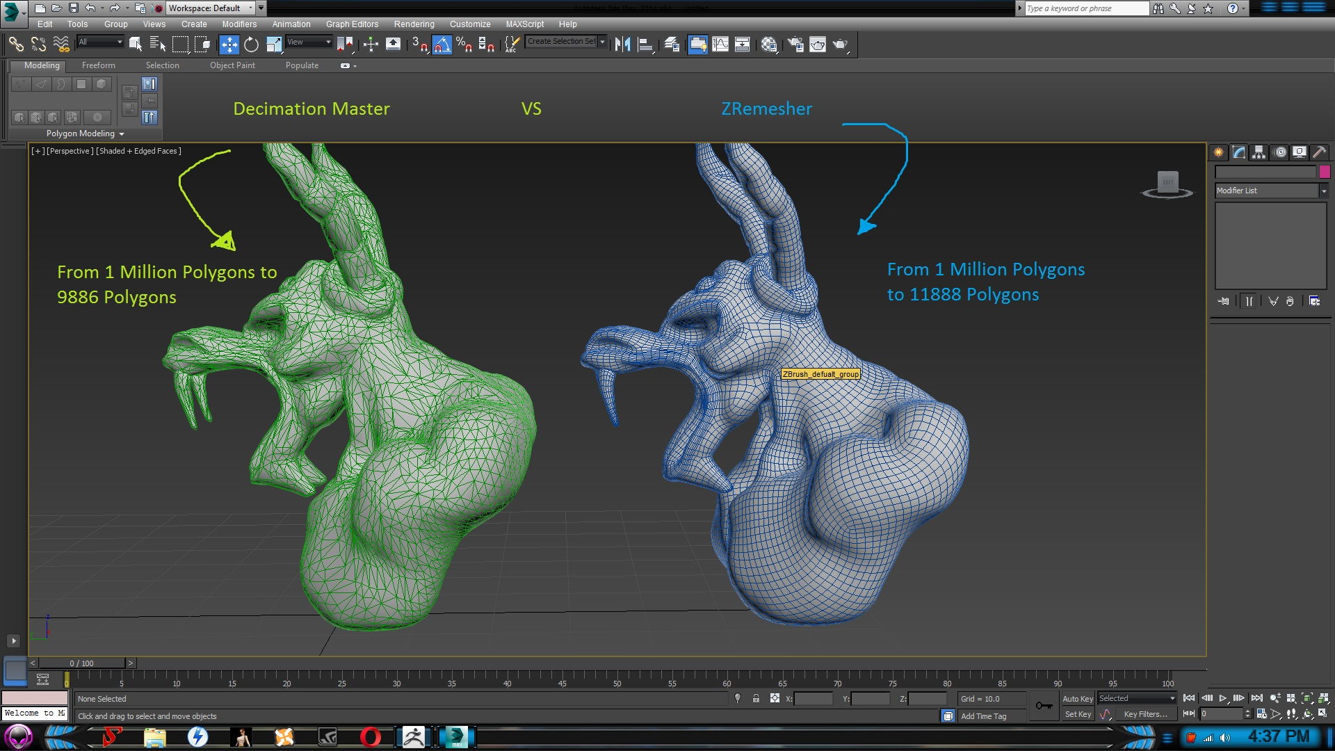 Optimize Meshes in ZBrush for 3Ds Max or Blender at Fallout