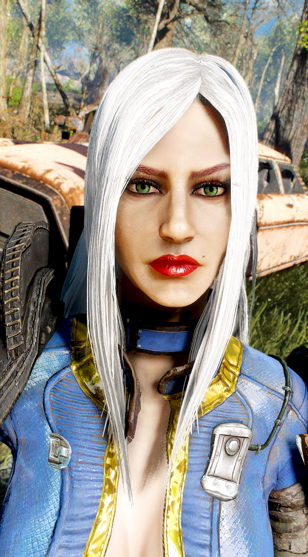 sleek hairstyles test on nastia at Fallout 4 Nexus - Mods ...