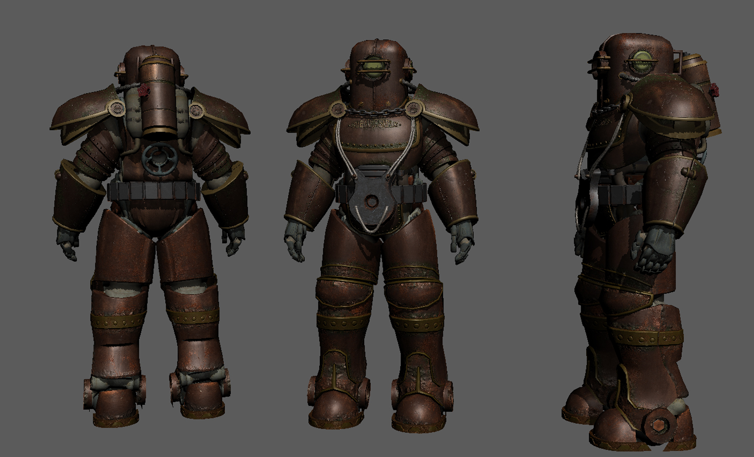 bioshock inspired power armour wip 3 at fallout 4 nexus mods and