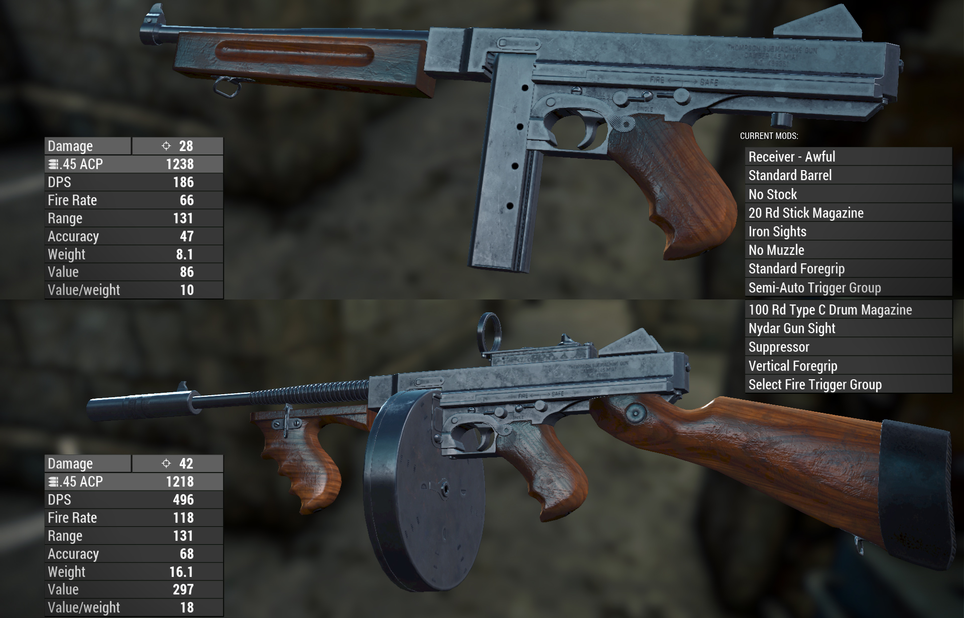 WARS WIP - Thompson SMG 10 at Fallout 4 Nexus - Mods and community