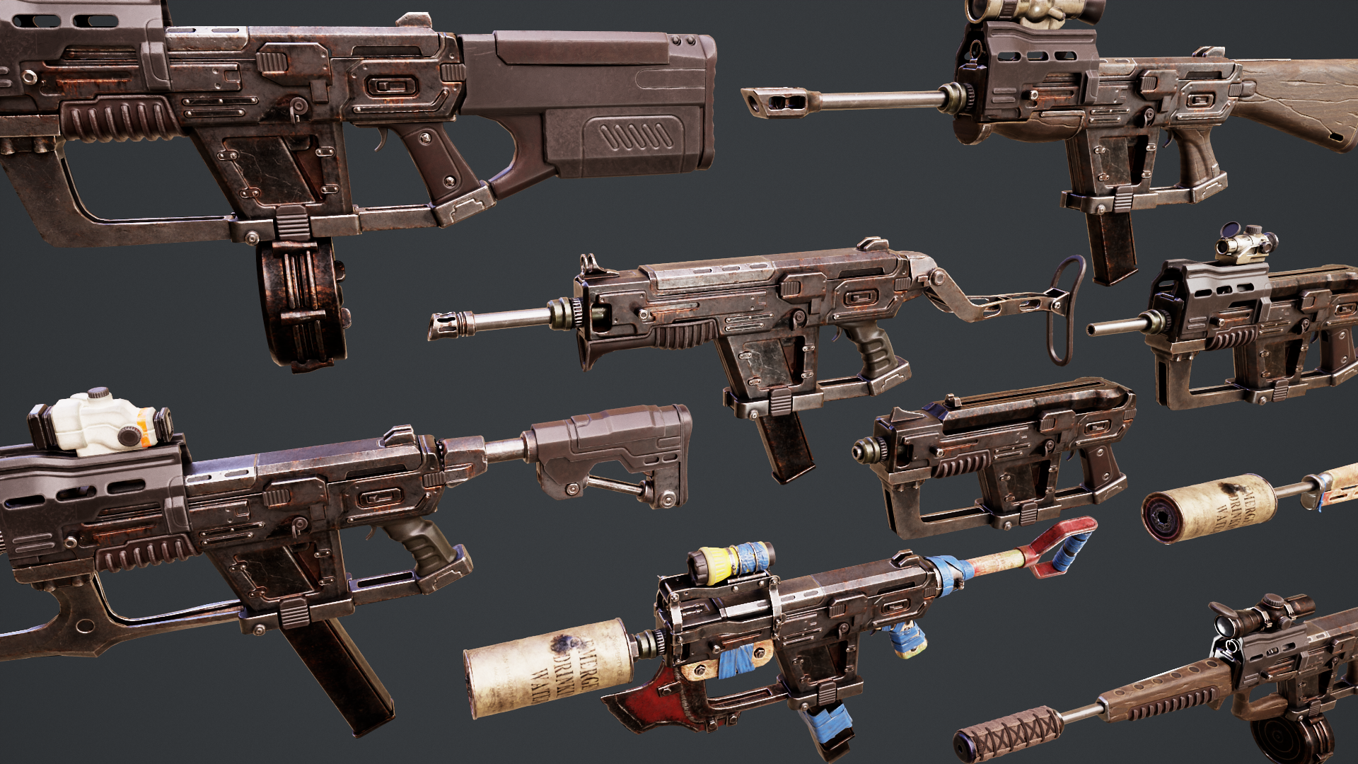 12_7mm SMG Redesign for Fallout 4 - WIP 4