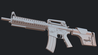Service Rifle WIP2 Highpoly renders