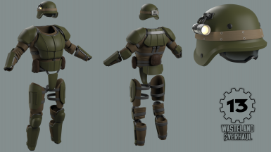 Wasteland Overhaul - F3 Combat Armor high-poly final
