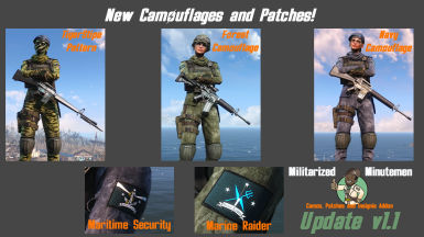 Miltarised Minutemen - Camos Patches and Insignia Addon - Update