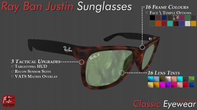 WIP - Ray Ban Justin Sunglasses - Feature List