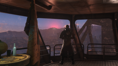 Sunset on the command deck