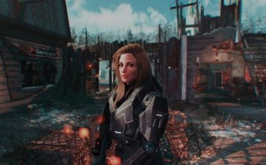 Heather in Spartan Armor