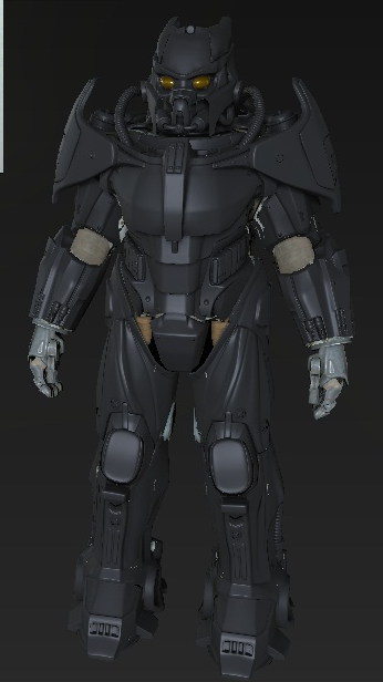 Enclave X-02 Power Armor WIP 7
