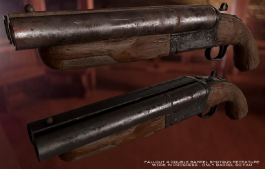 Scratch made double-barrel retexture - WIP