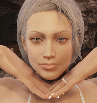 My Fallout 4 character without any makeup