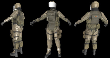 MGS5 armored soldier