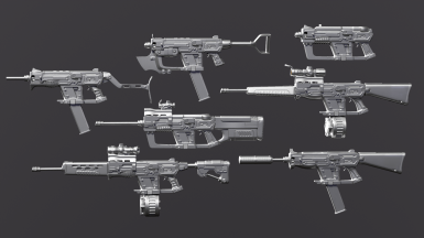 12_7mm SMG redesign for Fallout 4 - WIP 2