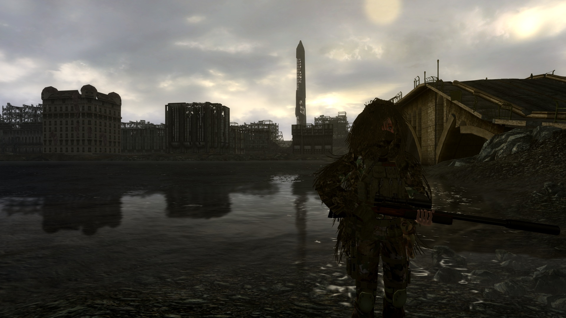 Ghillie In The Mist At Fallout3 Nexus