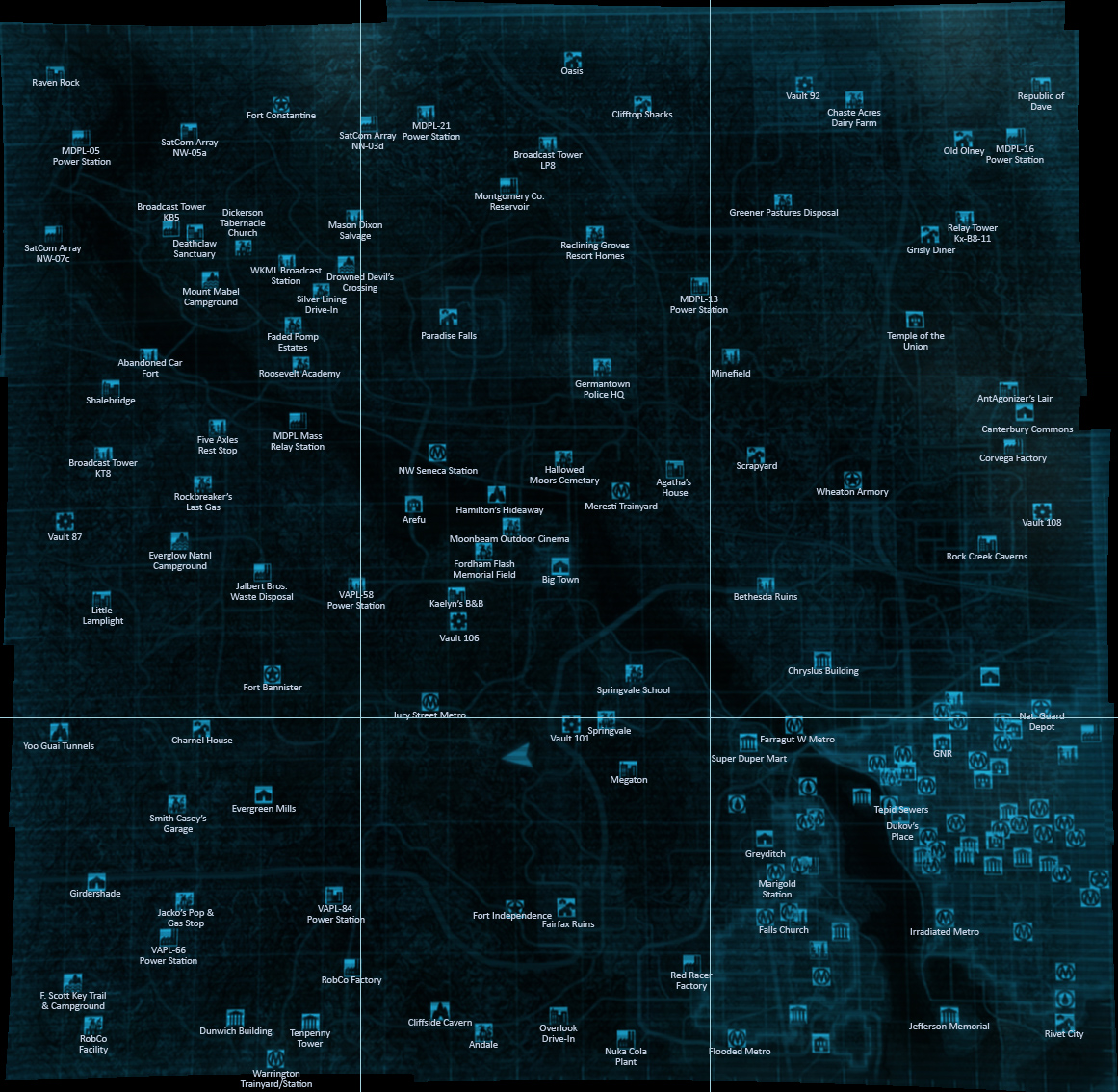 And another one map at Fallout3 Nexus - mods and community