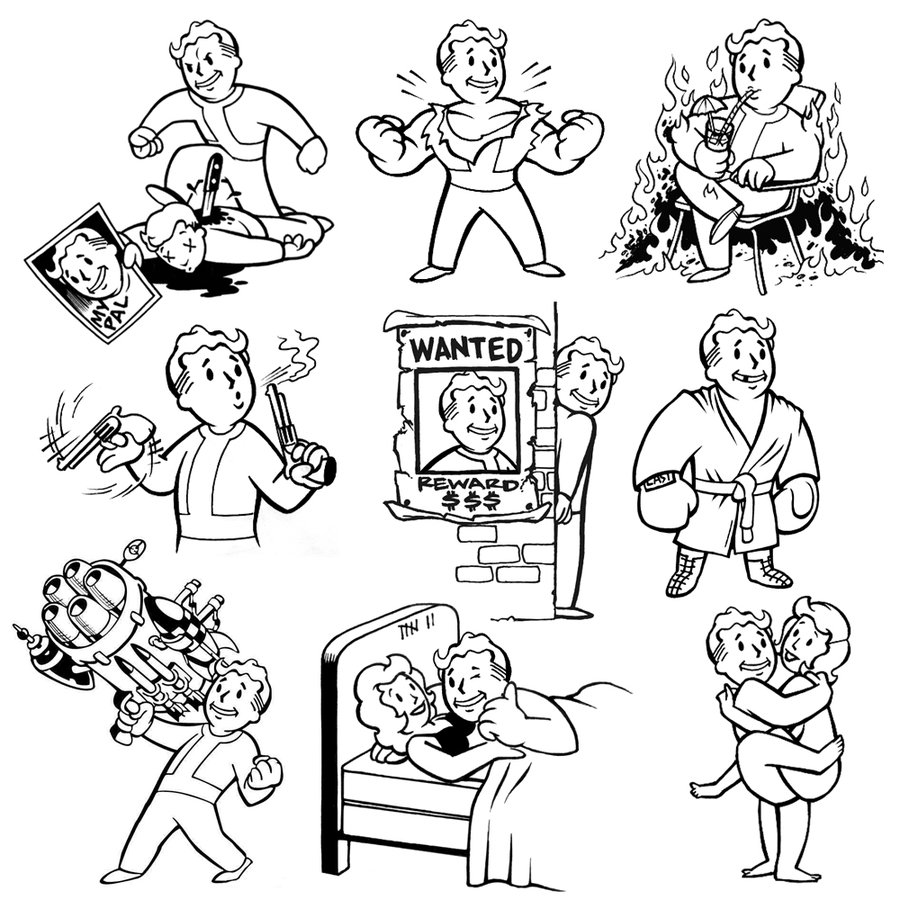 fallout vault boy coloring pages - photo#13