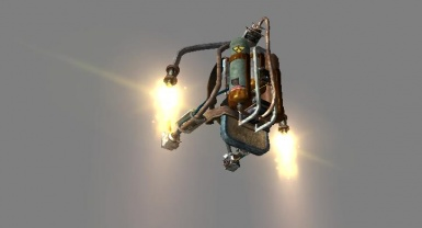 Jetpack with flamage