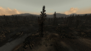 View from Arefu - with Flora Overhaul Dead Edition and FO3LODGen