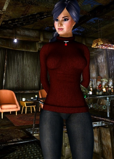 Brisa with new sweater