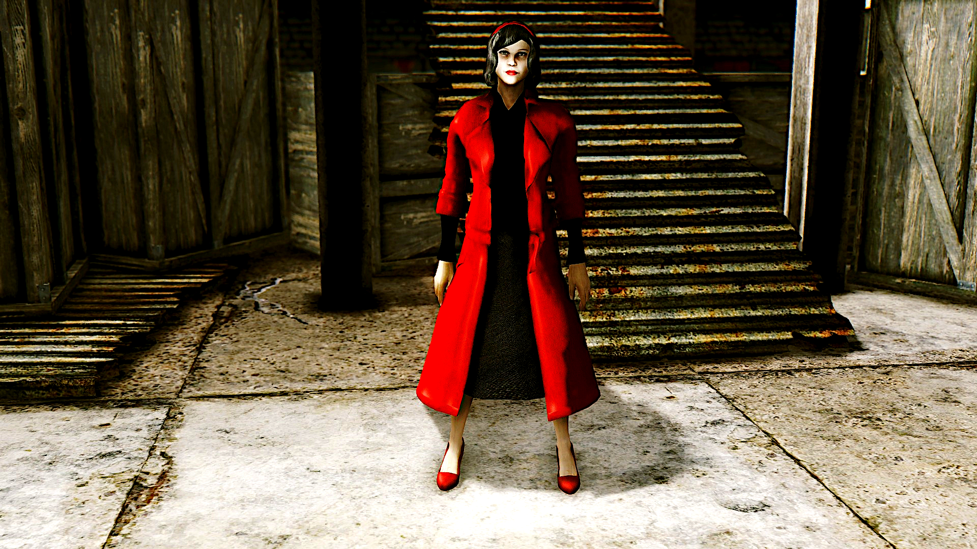 The Shape Of Water Elisa Esposito Red Coat Outfit Polished At