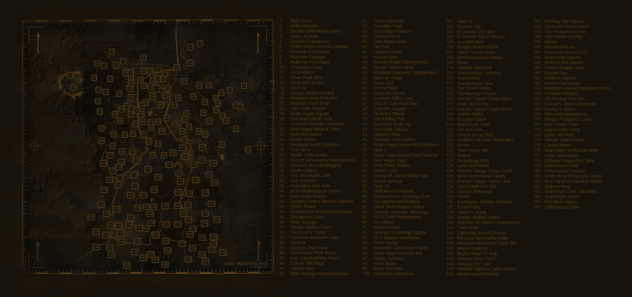 New Vegas World Map.Fallout New Vegas Map With Names At Fallout New Vegas Mods And