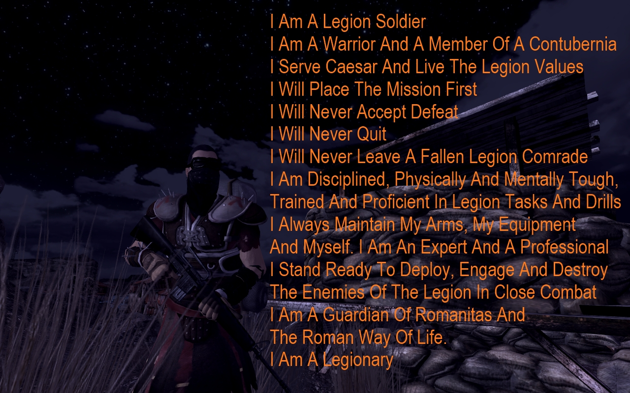Legion Values At Fallout New Vegas Mods And Community