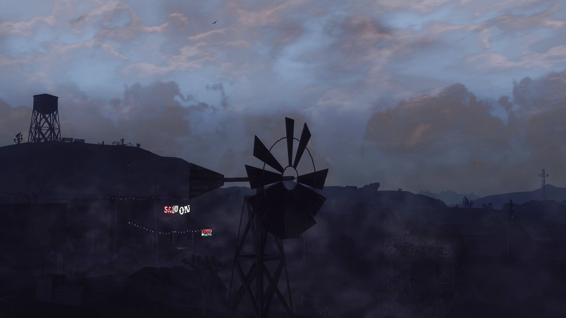 Skyline of beautiful downtown goodsprings at fallout new vegas mods and community - Fallout new vegas skyline ...