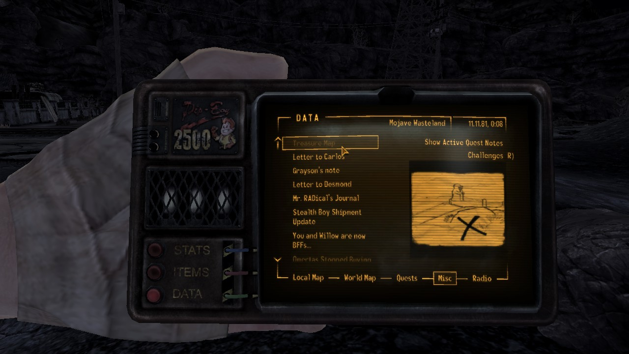 Treasure Map at Fallout New Vegas - mods and community