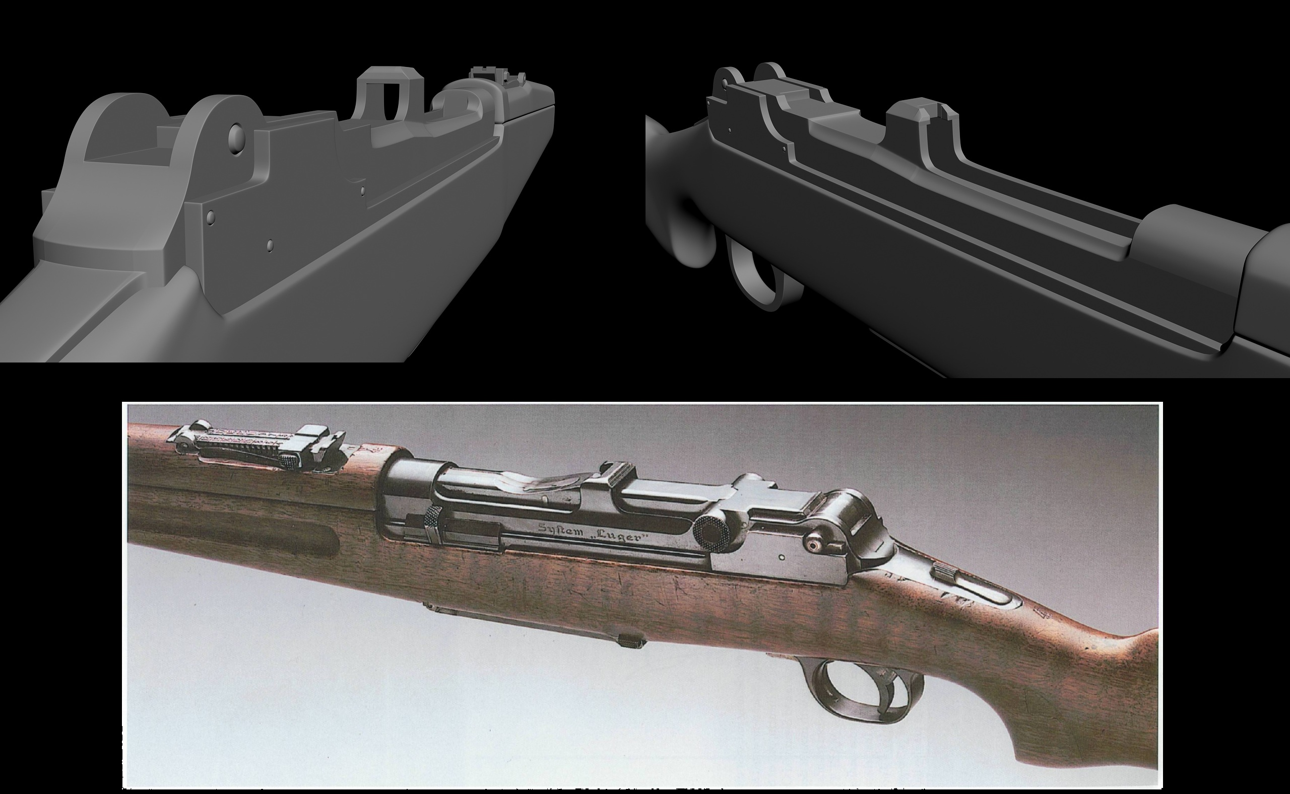 German Luger Rifle WIP at Fallout New Vegas - mods and community