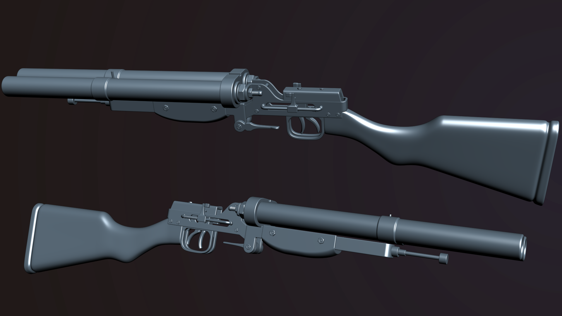 Homemade double barrel shotgun at Fallout New Vegas - mods and community