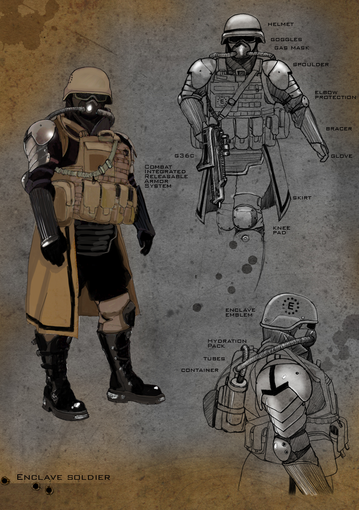 Enclave Soldier at Fallout New Vegas