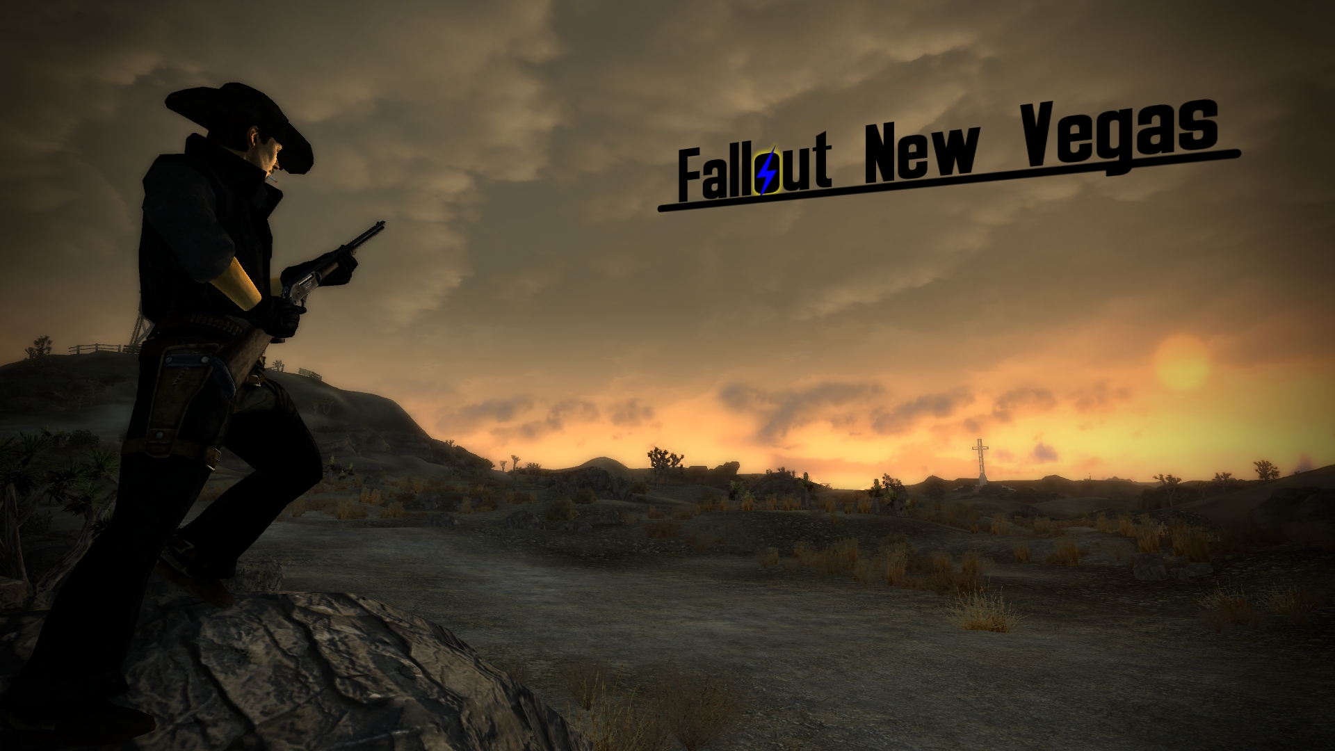 Cowboy New Vegas Wallpaper Underlined Text At Fallout New Vegas