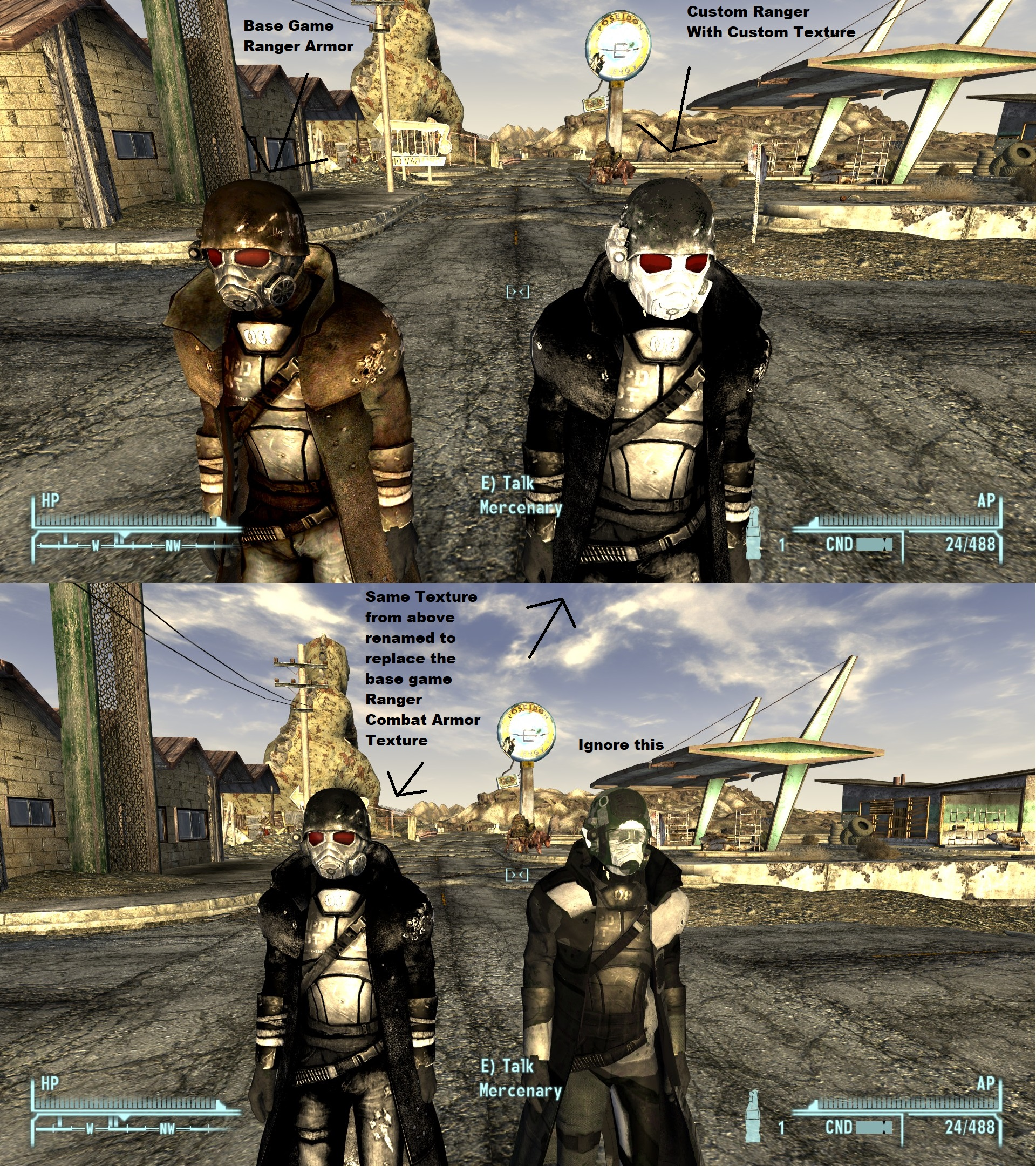 Custom Ranger Combat Armor Glitch At Fallout New Vegas Mods And